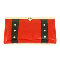 Hold Fast Handbags | Ruby Red Speedway Clutch Wallet