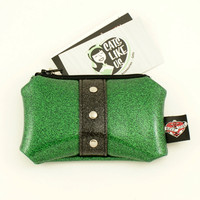 Hold Fast Handbags | Emerald Galaxy Card Coin Pouch