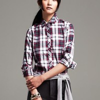 Soft-Wash Bold Plaid Flannel Shirt