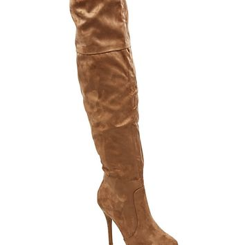 Faux Suede Stiletto Over-The-Knee Boot