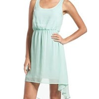 Mint Hi-Low Chiffon Dress: Charlotte Russe