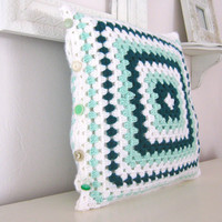 Cate.....Crochet Retro Pillow Cover - Ready To Ship