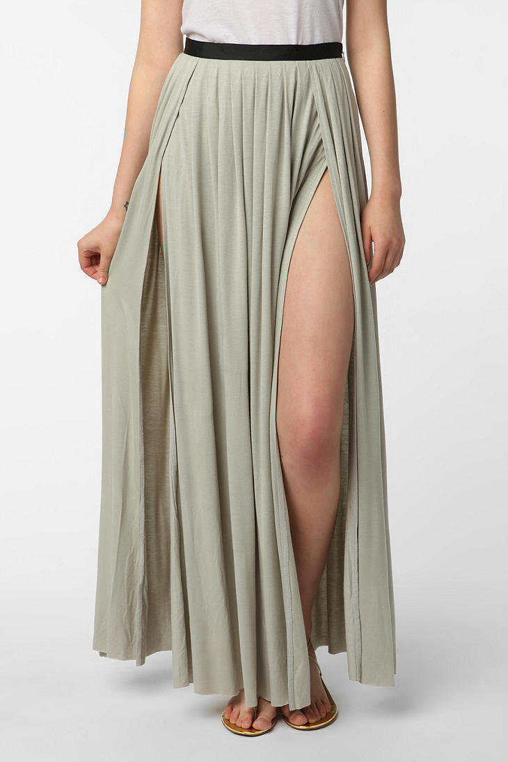 ecote slit maxi skirt from outfitters my closet