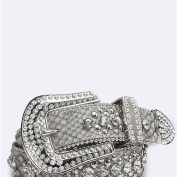 Cross Rhinestone Belt