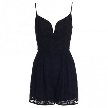 Backbeat Embroidered Playsuit
