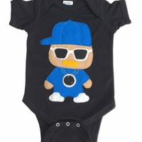 Handmade Felt Appliqued Flavor Flav Rapper Bodysuit Onesuit - Available in Different Famous Rappers
