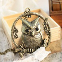 Discount China china wholesale Design Retro Style Eccentric Owl Pendant Necklace 5026 [5026] - US$1.99 : Bluelans