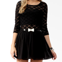 Diamond Patterned Lace Top