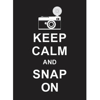 Keep Calm and Snap On : Black - Wedding Birthday Anniversary Gift Children Decor Kids Room Home Decor Travel Art - BUY 2 Get 1 Free