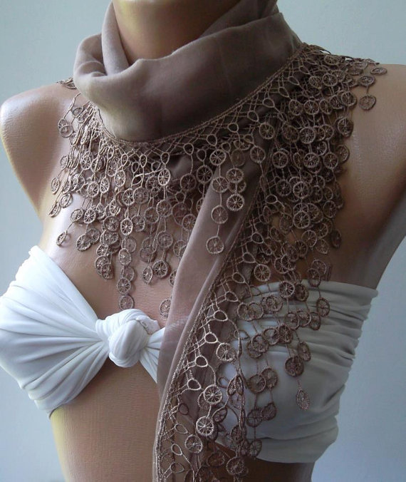 Scarf - Cotton scarf -Soft  Scarf.....Stone Color....Elegance Scarf / Shawl