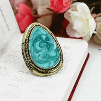 Color Impression Adjustable Vintage Style Ring  | LilyFair Jewelry
