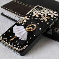 Bling  iphone 4 cases,crystal iPhone 4 cases  iPhone 4s case,  iphone cases 4, with ballet girl,HTC case