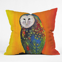 "Clara Nilles Glowing Owl On Sunset Throw Pillow - Indoor / 26"" x 26"" / Pillow Cover Only"