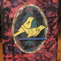 Mixed Media Collage Dirty Birdy Painting