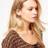 ASOS Filigree Leaf Ear Cuff at asos.com