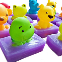 Bumbly Buddy - Autism Fundraiser - purple bubblegum soap with bath toy