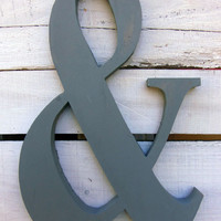 Wood Sign - Ampersand Wall Decor