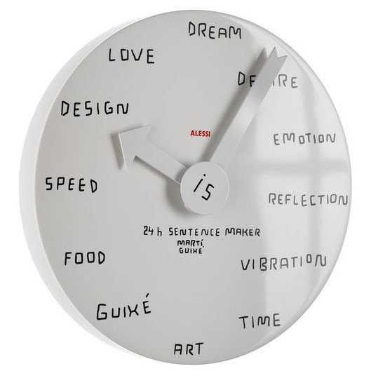 Alessi Blank 24 Hour Clock Sentence Maker