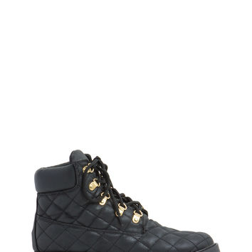 Stitch Quilted Lug Boots