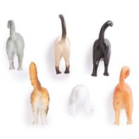Kikkerland Design Cat Butt Magnets (Set of 6)