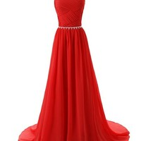Mic Dresses Beaded Straps Bridesmaid Prom Dresses with Sparkling Embellished Waist