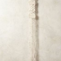 Large Macrame Tapestry by Anthropologie White One Size Wall Decor