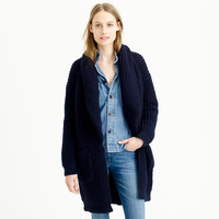 J.Crew Womens Collection Bonded Wool Sweater-Jacket