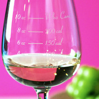 Caloric Cuvee: The calorie counting wine glass