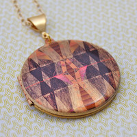 The Origami Locket - Vintage - Verabel FOX Collaboration