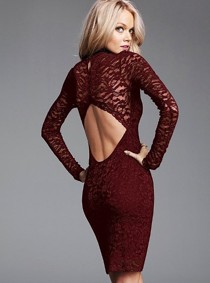 Open-Back Lace Dress - Victoria's Secret