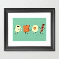 Let's All Go And Have Breakfast Framed Art Print by Teo Zirinis | Society6