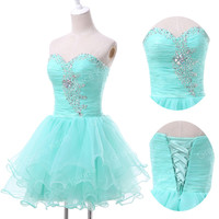 ~CHEAP~ Homecoming Short Voile Gowns Formal Prom Evening Quinceanera Party Dress