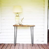 The Soleau - Pine Wood Hall Table With Hairpin Legs