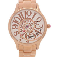 Betsey Johnson Watch, Women's Rose Gold Tone Stainless Steel Bracelet 38mm BJ00040-14 - All Watches - Jewelry & Watches - Macy's