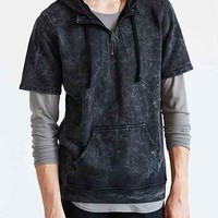Drifter Scion Mineralized Short-Sleeve Hooded Sweatshirt - Black