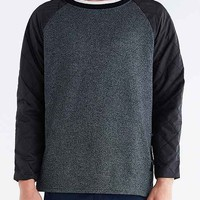 Feathers Quilted Sleeve Crew Neck