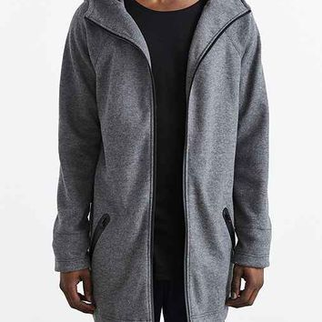 Feathers Double Knit Hooded Parka- Grey