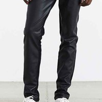 Tripp NYC Faux Leather Split Denim Pant- Black