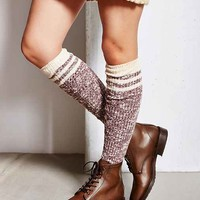 Marled Varsity Stripe Over-The-Knee Sock-