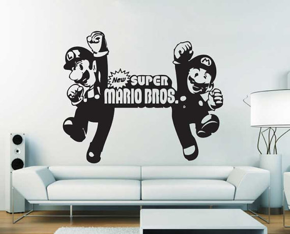 New Super Mario Bros Vinyl Wall Art Decal From Dinaamon On