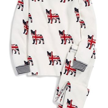 Toddler Girl's PJ Salvage 'British Lily' Two-Piece Pajamas