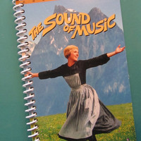 SOUND of MUSIC notebook journal spiral bound Made from the VHS movie Julie Andrews