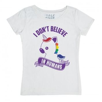 I Don't Believe in Humans-Unisex Snow T-Shirt
