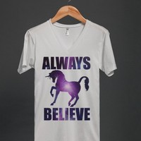 Always Believe-Unisex White T-Shirt