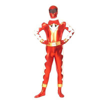 Red And White Shiny Metallic Alien Fullbody Zentai Fancy Dress [TOQ111227053] - £28.19 : Zentai, Sexy Lingerie, Zentai Suit, Chemise