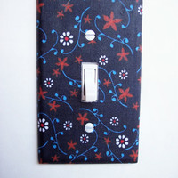 Americana Floral Single Toggle Switchplate