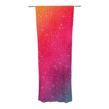 "KESS InHouse Fotios Pavlopoulos ""Colorful Constellation"" Pink Glam Decorative Sheer Curtains, 30 by 84-Inch"