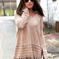 Let's Be Fringe {Hooded Sweater}