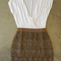 Crochet Macchiato Party Dress [3040] - $44.00 : Vintage Inspired Clothing & Affordable Summer Dresses, deloom | Modern. Vintage. Crafted.