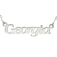 Script Name Necklace in Stainless Steel (12 Characters) - 17.25